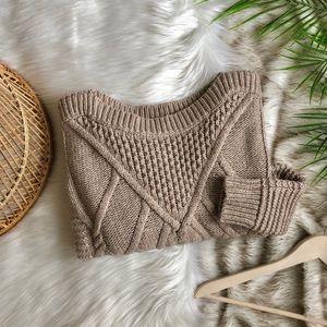 Victoria's Secret Oatmeal Fisherman Sweater M